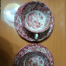 Antigüedades: DOS TAZAS DE LA CARTUJA PICKMAN. Lote 246322240