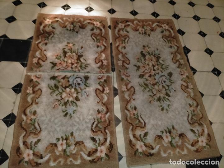 Antigüedades: ALFOMBRA 116X57 ALFOMBRILLA LANA + OTRA CORTADA POR LA MITAD DE REGALO - Foto 9 - 246331095