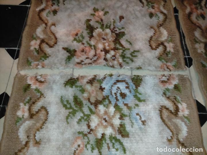 Antigüedades: ALFOMBRA 116X57 ALFOMBRILLA LANA + OTRA CORTADA POR LA MITAD DE REGALO - Foto 10 - 246331095