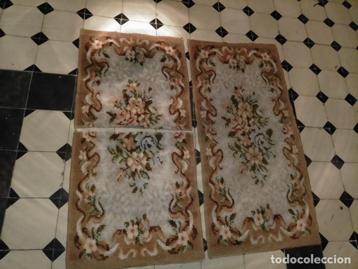 Antigüedades: ALFOMBRA 116X57 ALFOMBRILLA LANA + OTRA CORTADA POR LA MITAD DE REGALO - Foto 16 - 246331095