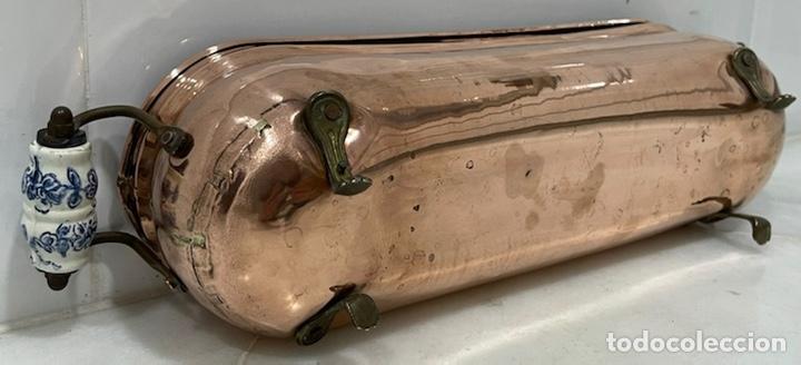 Antigüedades: ANTIGUA JARDINERA FRANCESA COBRE PORCELANA SIGLO XIX - Foto 11 - 246335875