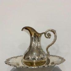 Antigüedades: AGUAMANIL PLATA MADRILEÑA 1862. Lote 246347880