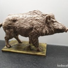 Antigüedades: FIGURA DE JABALÍ DE RESINA. (ENVÍO 4,31€). Lote 246369190