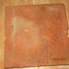 Antigüedades: UNA BALDOSA ANTIGUA SIGLO XVII DE ANTIGUO PALACETE RENACENTISTA CERAMICA BARRO. Lote 52240932