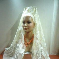 Oggetti Antichi: MANTILLA BLANCA. Lote 246457370