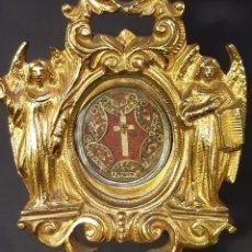 Antigüedades: OSTENSORIO, RELICARIO. PLATA, BRONCE. SIGLO XVIII - XIX.. Lote 246457525