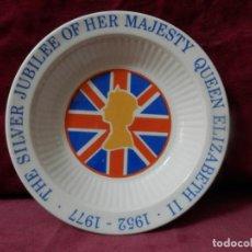 Antigüedades: PLATO THE SILVER JUBILEE OF HER MAJESTY QUEEN ELIZABETH II. 1952 - 1977. ADAMS MADE IN ENGLAND.. Lote 246458540