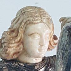 Antigüedades: ANGEL DE PLATA Y MARFIL ANTIGUO. Lote 246464450