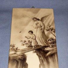 Antigüedades: ANTIGUA IMAGEN ANGEL DE LA GUARDA ARTES FOTOGRAFICAS ARAGON DE MADRID AÑOS 30 ORIGINAL. Lote 246469250