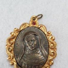 Antiguidades: MEDALLA SANTA TERESA DE JESUS PLATA 835MLS 57MM. Lote 246473305