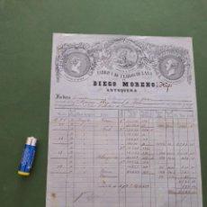 Antiquités: FABRICA TEJIDOS Y LANA DIEGO MORENO & HIJOS FACTURA ANTEQUERA. Lote 246483680