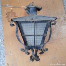 Antigüedades: FAROL DE HIERRO, ALTURA 40 CM. Lote 246546595