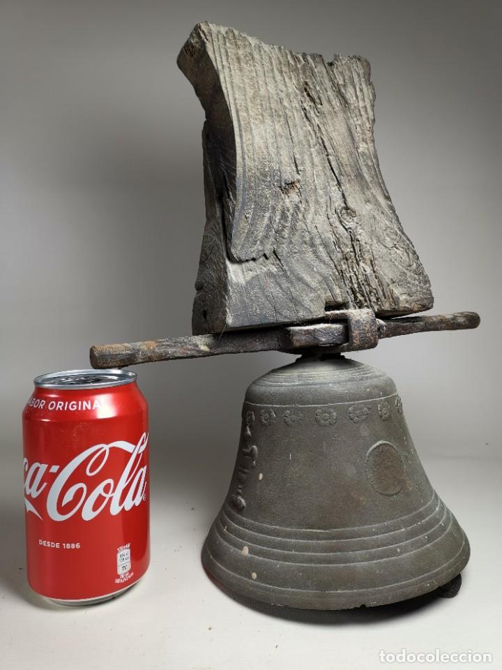 Antigüedades: ANTIGUA Y PRECIOSA CAMPANA FRANCESA SIGLO XIX--CONVENTO--CAPILLA---GRAN SONIDO - REF-MO - Foto 2 - 246551000