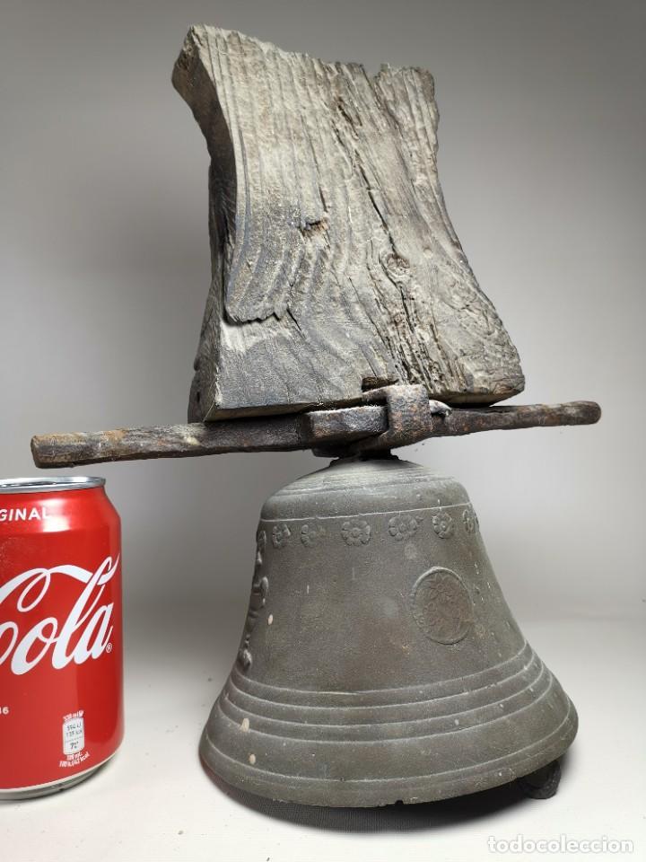 Antigüedades: ANTIGUA Y PRECIOSA CAMPANA FRANCESA SIGLO XIX--CONVENTO--CAPILLA---GRAN SONIDO - REF-MO - Foto 3 - 246551000