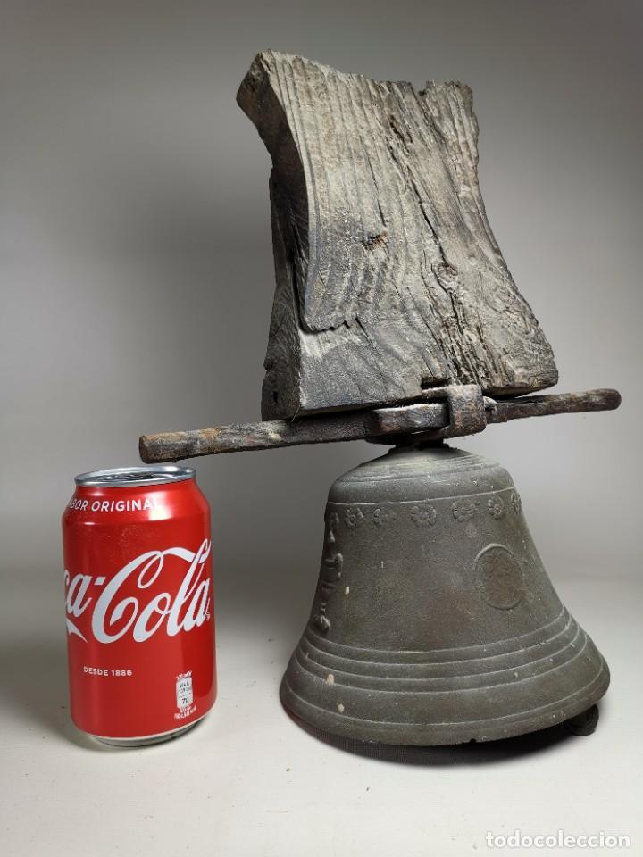 Antigüedades: ANTIGUA Y PRECIOSA CAMPANA FRANCESA SIGLO XIX--CONVENTO--CAPILLA---GRAN SONIDO - REF-MO - Foto 4 - 246551000