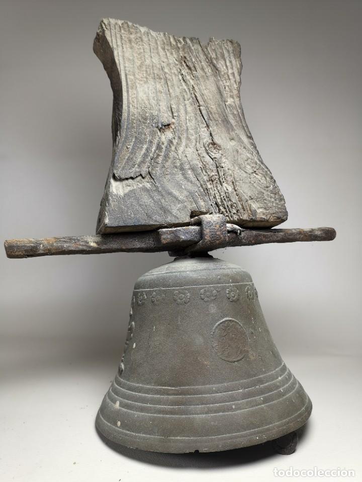 Antigüedades: ANTIGUA Y PRECIOSA CAMPANA FRANCESA SIGLO XIX--CONVENTO--CAPILLA---GRAN SONIDO - REF-MO - Foto 5 - 246551000