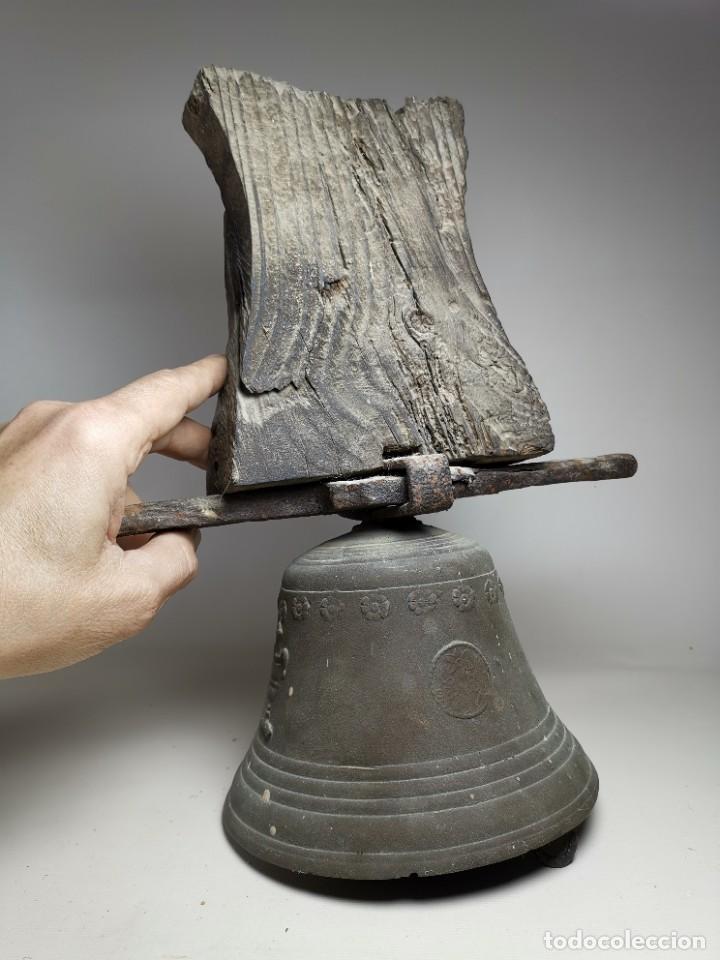 Antigüedades: ANTIGUA Y PRECIOSA CAMPANA FRANCESA SIGLO XIX--CONVENTO--CAPILLA---GRAN SONIDO - REF-MO - Foto 6 - 246551000