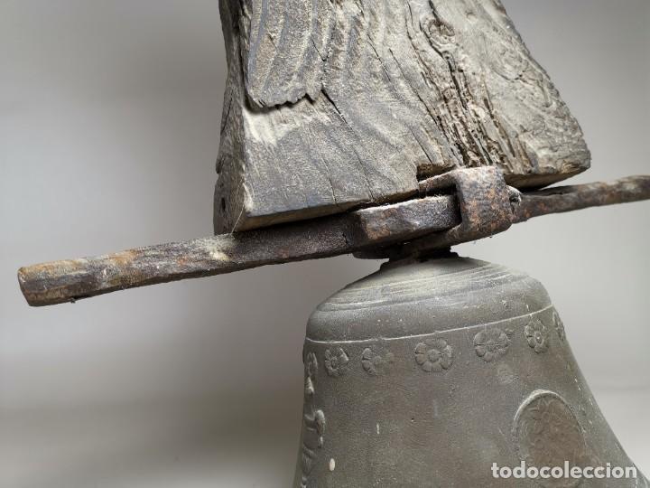 Antigüedades: ANTIGUA Y PRECIOSA CAMPANA FRANCESA SIGLO XIX--CONVENTO--CAPILLA---GRAN SONIDO - REF-MO - Foto 7 - 246551000