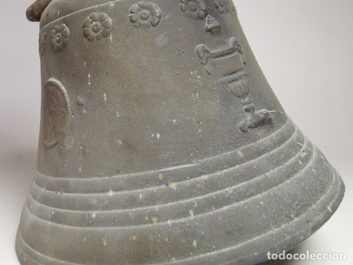 Antigüedades: ANTIGUA Y PRECIOSA CAMPANA FRANCESA SIGLO XIX--CONVENTO--CAPILLA---GRAN SONIDO - REF-MO - Foto 11 - 246551000