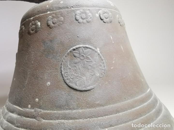 Antigüedades: ANTIGUA Y PRECIOSA CAMPANA FRANCESA SIGLO XIX--CONVENTO--CAPILLA---GRAN SONIDO - REF-MO - Foto 16 - 246551000
