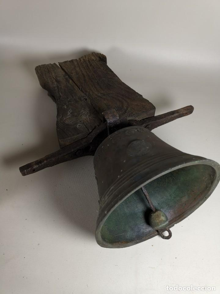 Antigüedades: ANTIGUA Y PRECIOSA CAMPANA FRANCESA SIGLO XIX--CONVENTO--CAPILLA---GRAN SONIDO - REF-MO - Foto 19 - 246551000