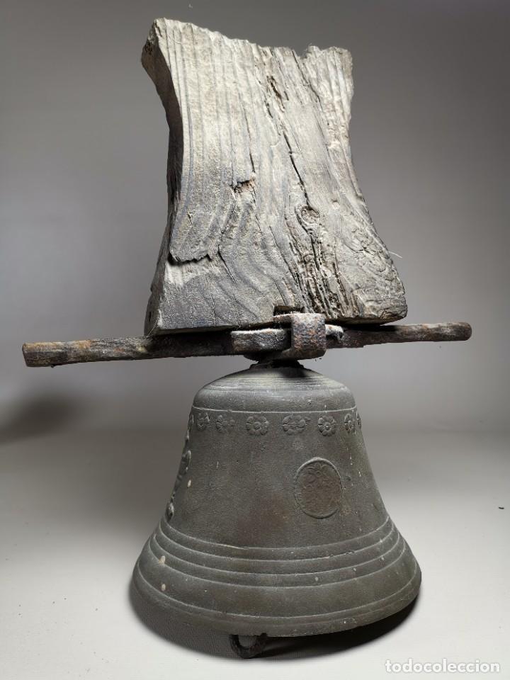 Antigüedades: ANTIGUA Y PRECIOSA CAMPANA FRANCESA SIGLO XIX--CONVENTO--CAPILLA---GRAN SONIDO - REF-MO - Foto 59 - 246551000