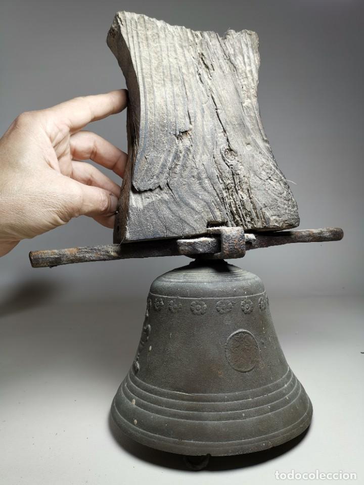 Antigüedades: ANTIGUA Y PRECIOSA CAMPANA FRANCESA SIGLO XIX--CONVENTO--CAPILLA---GRAN SONIDO - REF-MO - Foto 60 - 246551000