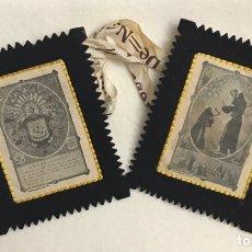 Antigüedades: RELIGIOSO. ANTIGUO ESCAPULARIO VENERABLE ORDEN TERCERA - SAN FRANCISCO. Lote 246559915
