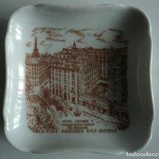 Antigüedades: PLATITO O CENICERO HOTEL GEORGE V DE PARIS. PORCELANA DE LIMOGES LANTERNIER. Lote 246591080