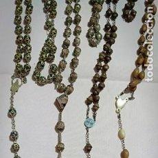 Antigüedades: LOTE DE 4 ROSARIOS VARIADOS. Lote 246591320