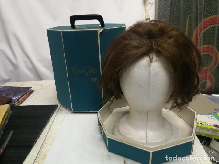 ANTIGUA PELUCA DE PELO HUMANO HUMAN HAIR EN SU CAJA Y SOPORTE MADAME JULLIE CUCHITA 70 (Antigüedades - Moda y Complementos - Mujer)