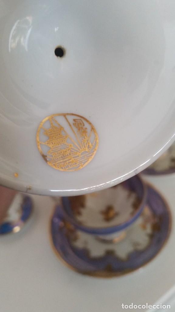 Antigüedades: PRECIOS Y MUY ELEGANTE TETE A TETE UN TU Y OY PORCELANA MODELO LUIS XV PORCELANA MAD CHINA - Foto 24 - 246614575
