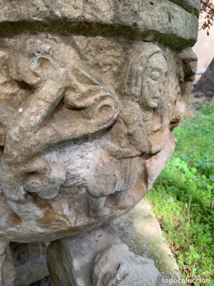Antigüedades: Gran jardinera de cemento años 50 - Foto 4 - 246617295