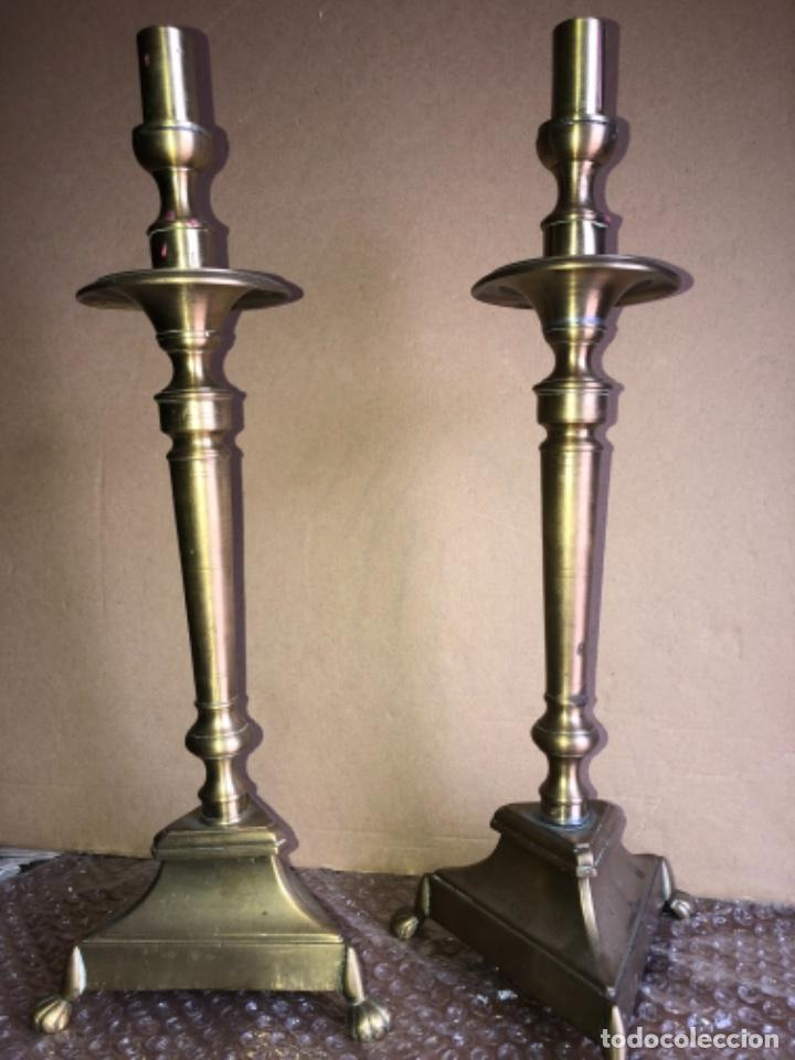 CANDELABROS DE BRONCE ANTIGUOS , (Antigüedades - Iluminación - Candelabros Antiguos)