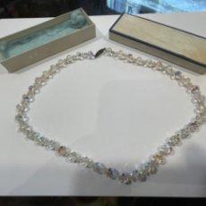 Antiquités: COLLAR DE CRISTAL DE ROCA MED.: 45 CMS. LARGO TOTAL (T1). Lote 246641600