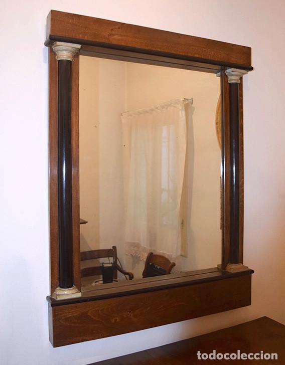 Antigüedades: Espejo estilo imperio, siglo XIX, muy buen estado - Foto 2 - 246685735