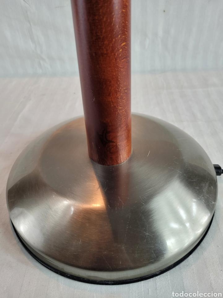 Antigüedades: Lampara de Pie diseño Madera Cerezo - Foto 9 - 246695850