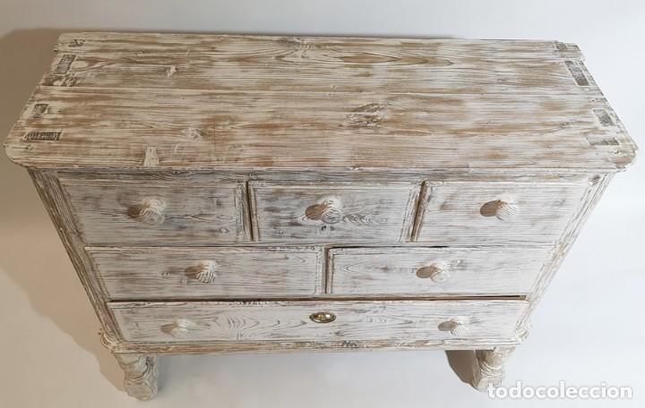 Antigüedades: Cómoda en Blanco Lijado - Foto 4 - 246713750