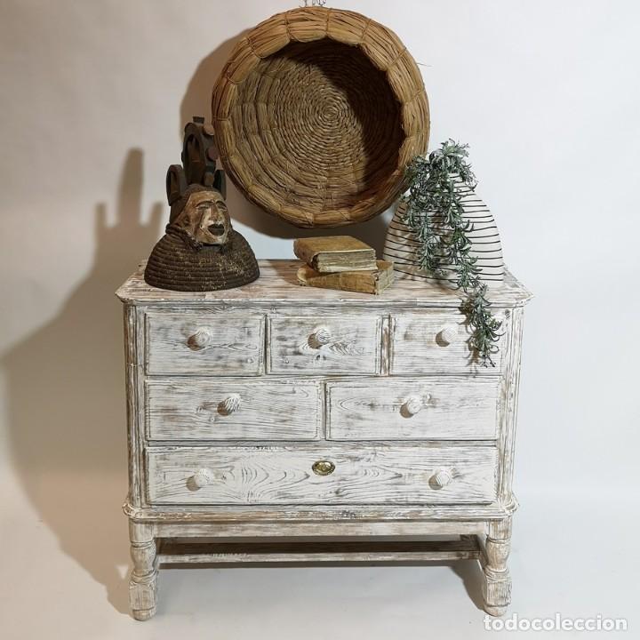 Antigüedades: Cómoda en Blanco Lijado - Foto 5 - 246713750