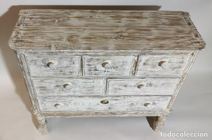 Antigüedades: Cómoda en Blanco Lijado - Foto 9 - 246713750