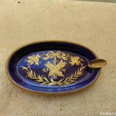 Antigüedades: ANTIGUA BANDEJA - CENICERO DE LIMOGES -. Lote 246772385