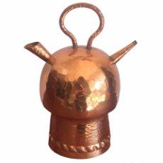 Antigüedades: BOTIJO O CANTI. CATALAN DE COBRE. MIDE 14 CM.. Lote 246852575