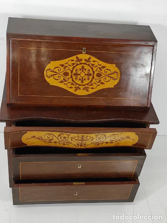 Antigüedades: Canterano, Escritorio - Madera Caoba y Marquetería - Ancho - 87 cm - Foto 6 - 246864690