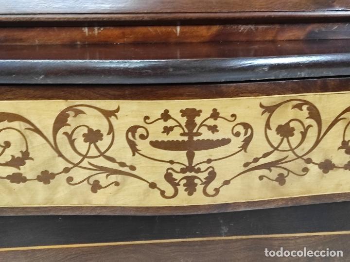 Antigüedades: Canterano, Escritorio - Madera Caoba y Marquetería - Ancho - 87 cm - Foto 7 - 246864690