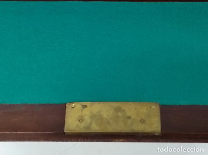 Antigüedades: Canterano, Escritorio - Madera Caoba y Marquetería - Ancho - 87 cm - Foto 11 - 246864690