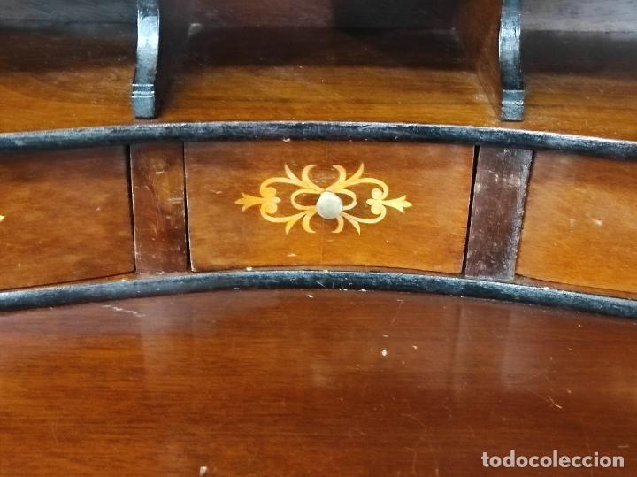 Antigüedades: Canterano, Escritorio - Madera Caoba y Marquetería - Ancho - 87 cm - Foto 14 - 246864690