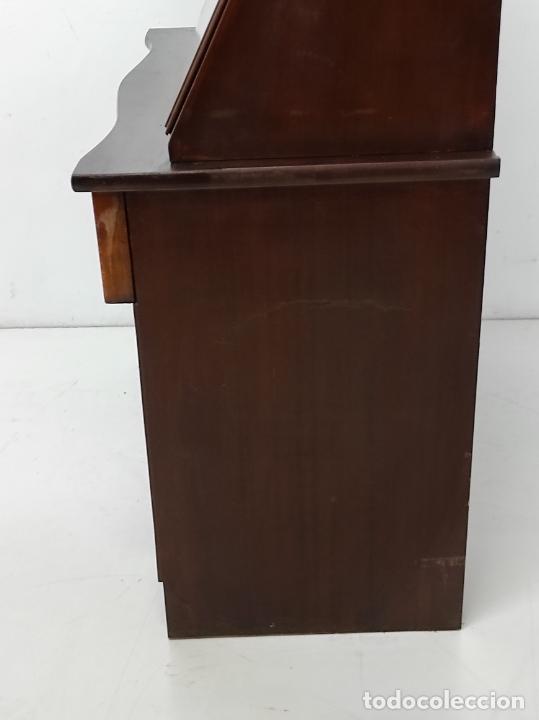 Antigüedades: Canterano, Escritorio - Madera Caoba y Marquetería - Ancho - 87 cm - Foto 17 - 246864690