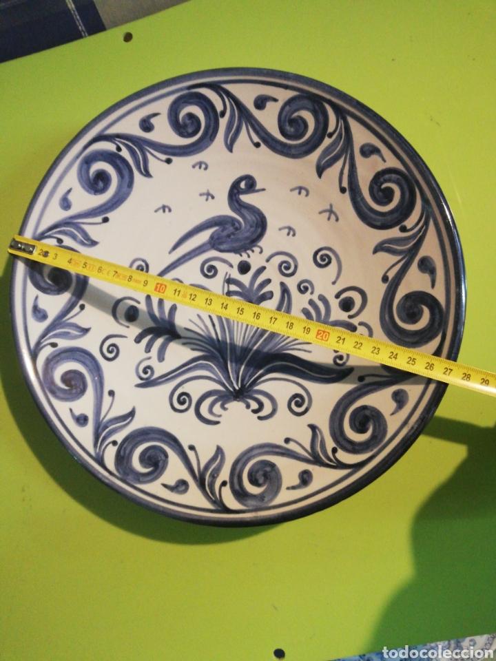 Antigüedades: Precioso Plato pintado a mano domingo punter - Foto 6 - 246875720