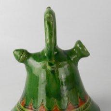 Antiquités: BOTIJO VERDE DE CERAMICA VIDRIADA, HERMANOS ALMARZA UBEDA. Lote 246877755
