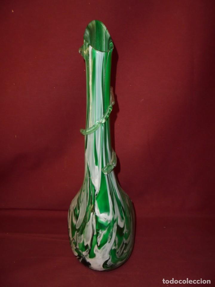 Antigüedades: magnifico antiguo jarron de cristal de murano preciosos colores - Foto 3 - 246896880